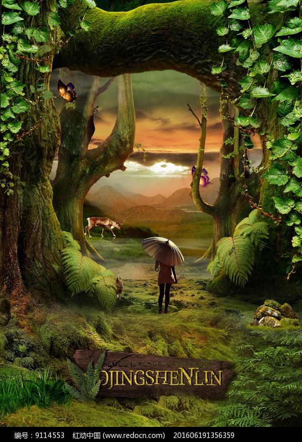 奇幻森林电影海报图片
