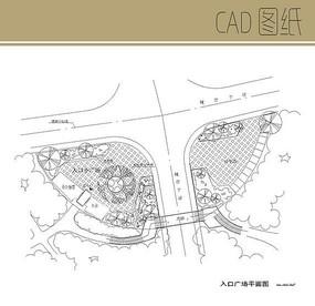 入口广场CAD平面图