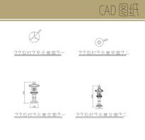石灯笼CAD CAD