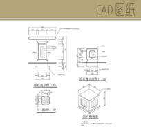 石凳详图 CAD