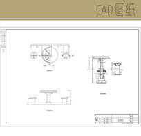 石凳子大样图 CAD