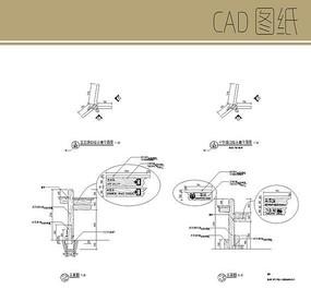十字路口指示牌CAD