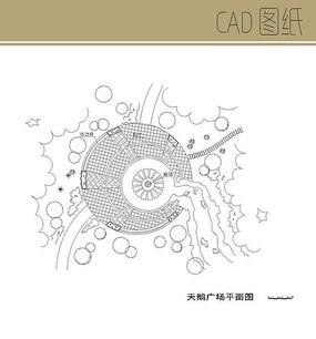 天鹅广场CAD平面