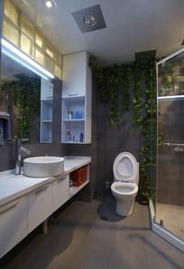 卫生间墙壁垂直绿化效果图 JPG