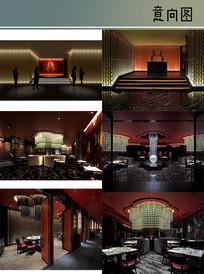 五星级酒店中餐厅装修图