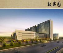 现代医院建筑效果图