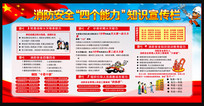 消防安全四个能力展板