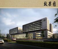 医疗综合楼建筑效果图 JPG