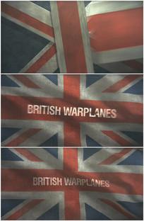 英国国旗手绘风格战争英文视频