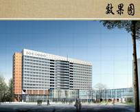 医院病房楼方案设计透视图