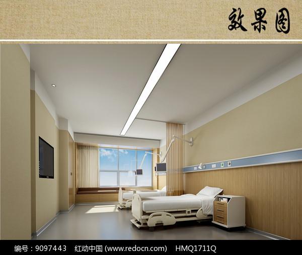 医院病房室内效果图图片