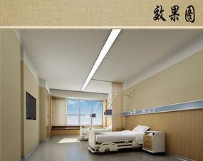 医院病房室内效果图