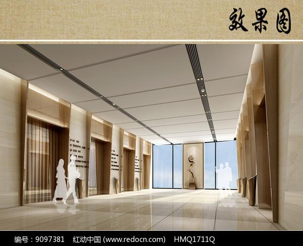 医院电梯厅室内效果图片