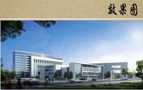 医院建筑侧面透视效果图 JPG