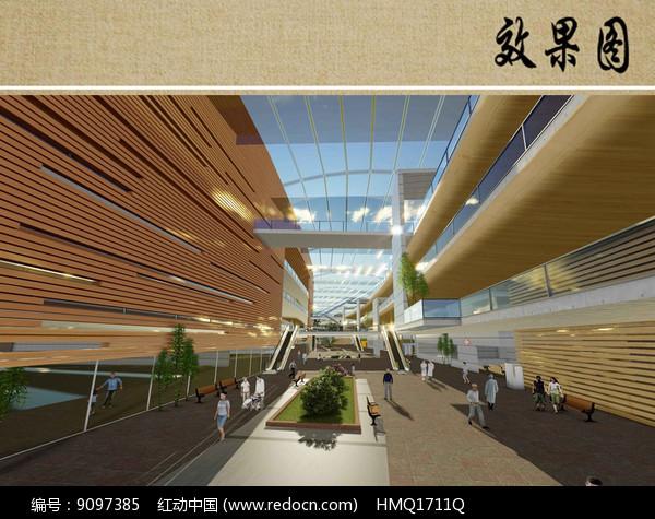 医院建筑室内效果图图片