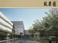 医院建筑中庭透视效果图