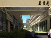 医院建筑中庭效果图 JPG