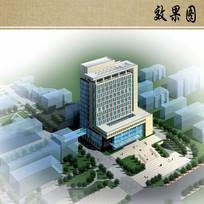 医院近期规划鸟瞰图 JPG