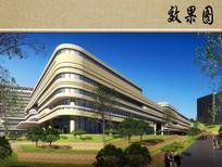 医院门诊建筑设计效果图 JPG