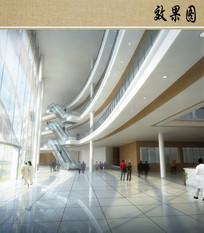 医院室内大厅效果图