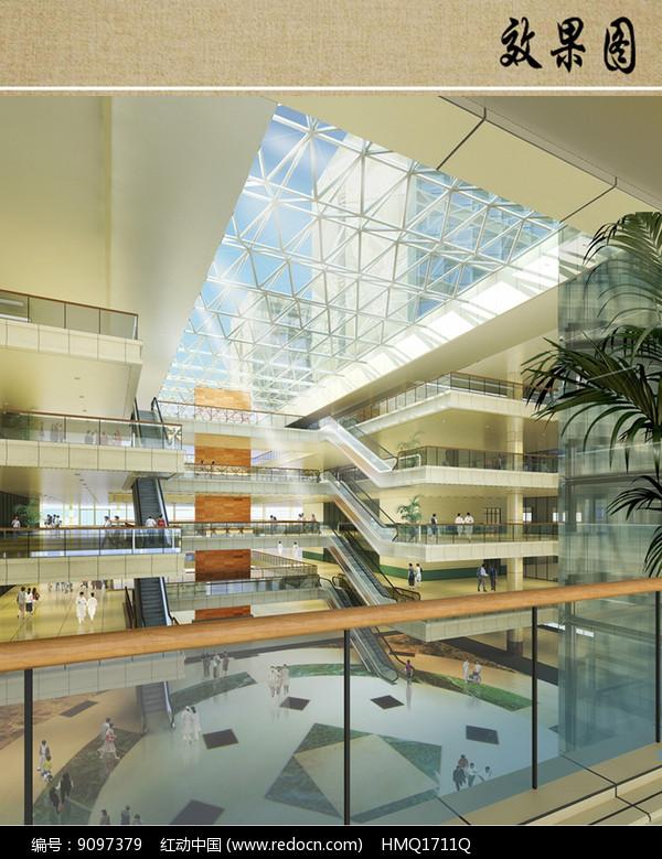 医院综合楼内部透视图图片