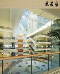 医院综合楼内部透视图