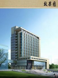 医院综合楼设计透视图 JPG