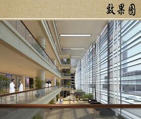 医院综合楼室内透视图