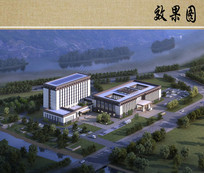 医院总体景观鸟瞰图