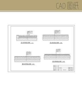 园路做法CAD