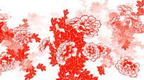 中国风剪纸牡丹循环动画