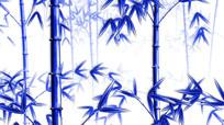 中国风水墨青花瓷竹子循环动画