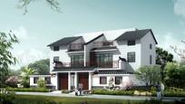 中式别墅住宅效果图