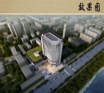 中医院住院部建筑鸟瞰图 JPG