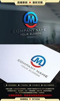 M字母LOGO设计 CDR