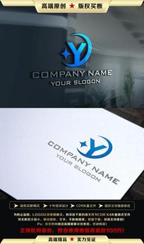 Y字母创意LOGO设计 CDR