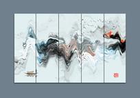 新中式现代抽象水墨画