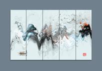 中国风水墨大厅装饰画