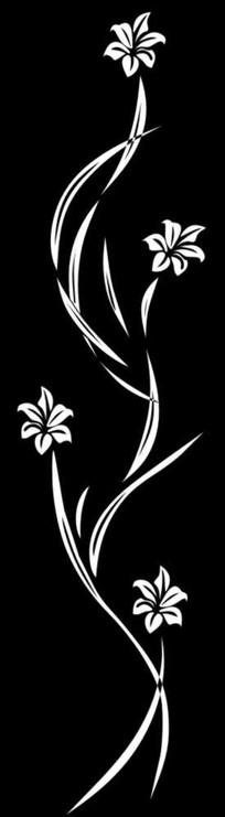 百合花雕刻图案