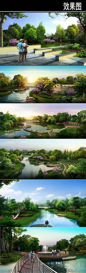 滨水景观效果图集