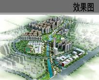 城市规划设计鸟瞰图
