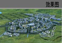 城市空间系统鸟瞰图