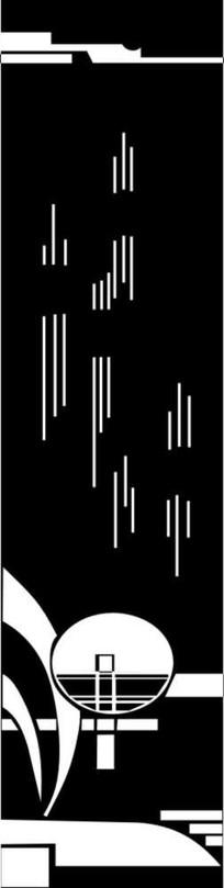 抽象镂空图雕刻图案