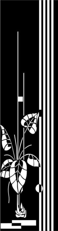 抽象马蹄花雕刻图案