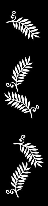抽象叶子雕刻图案