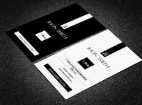 创意简洁黑白名片设计模板