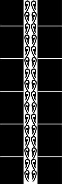 对称花纹雕刻图案