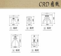 景观灯立面CAD dwg