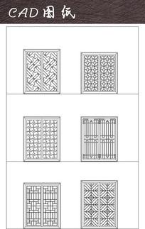 矩形中式花窗CAD