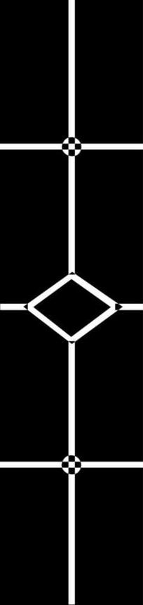 镂空菱形雕刻图案